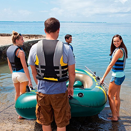 Intex Seahawk 4, 4-Person Inflatable Boat Set with Aluminum Oars and High Output Air Pump (Latest Model) by Intex (Image #3)