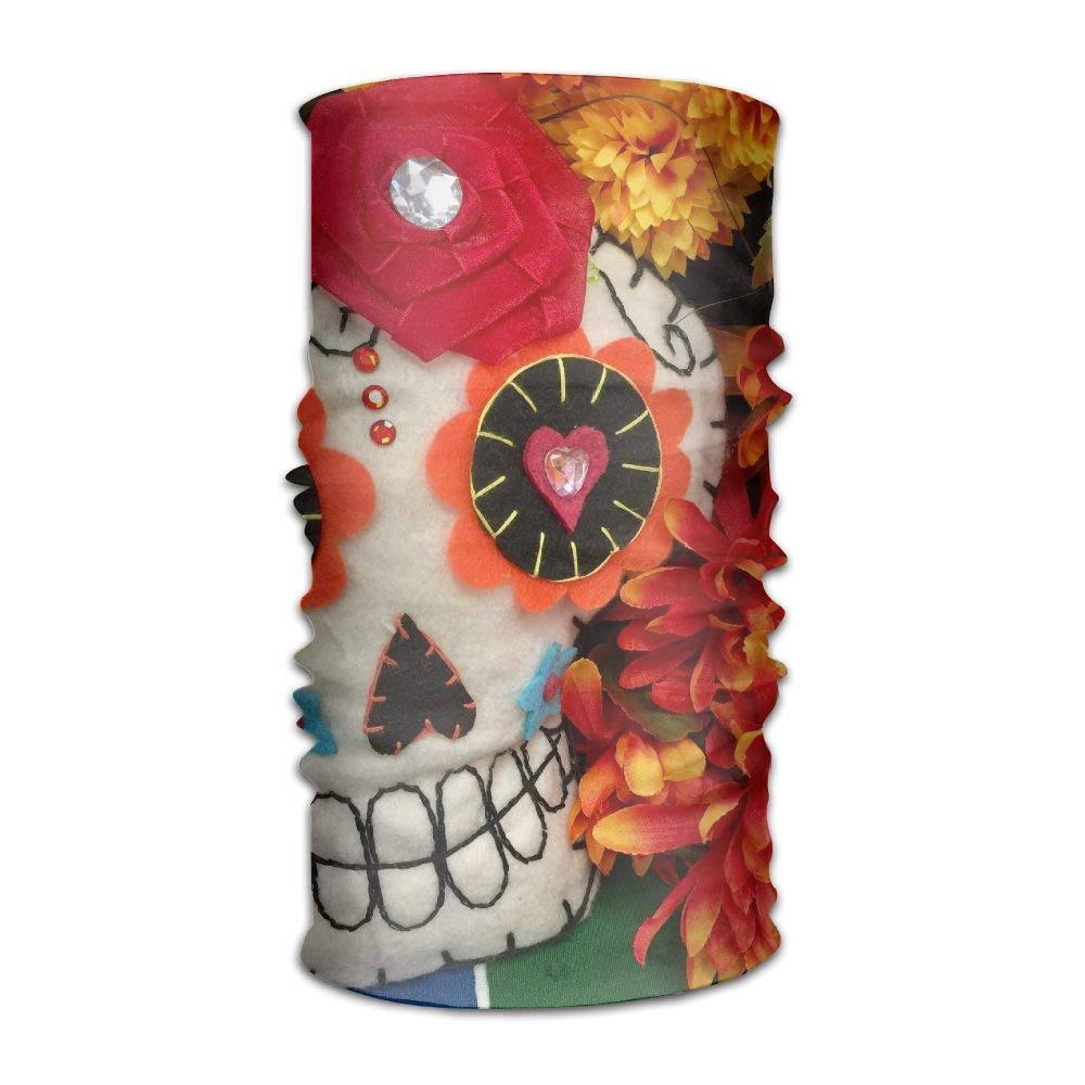 Fall Flower Autumn Skull Unisex Fashion Quick-Drying Microfiber Headdress Outdoor Magic Scarf Neck Neck Scarf Hooded Scarf Super Soft Handle