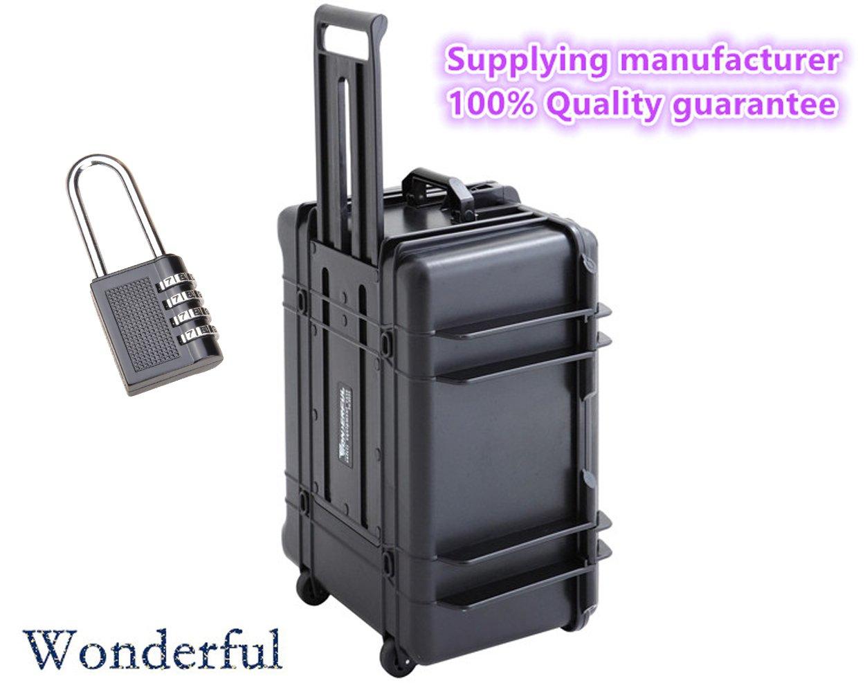 Wonderful pc-6033 WatertightケースABS素材、密封防水、防塵to keep your製品Dry and、カスタマイズ可能、取り外し可能Pick N Pluck Foam (ブラック)   B01ELKZ158
