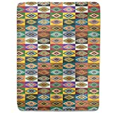 Apache Patchwork Fitted Sheet: King Luxury Microfiber, Soft, Breathable