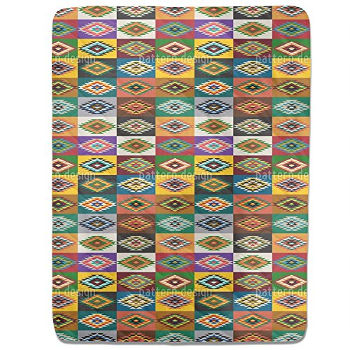 Apache Patchwork Fitted Sheet: King Luxury Microfiber, Soft, Breathable by uneekee
