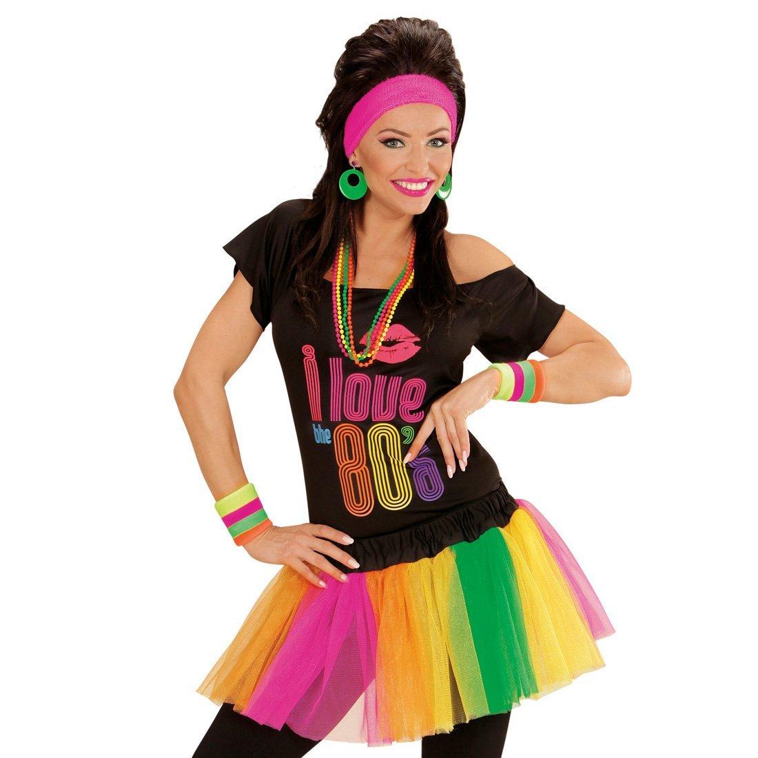 Neon Tutu Damenrock Multicolour Petticoat Multicolor Mini Rock 80\'S ...