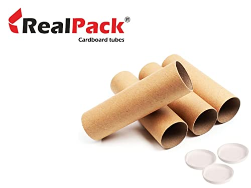 REALPACK® Postal Tube Cardboard with Plastic End Caps - 3'' line-size: 330mm (1)
