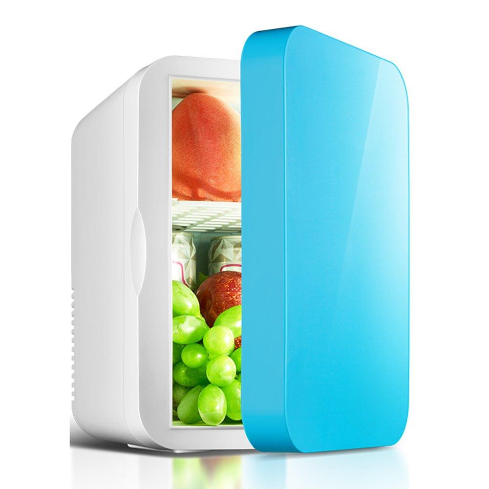LIQICAI 6L Tragbar Elektrische Kühlbox Auto Heizung Kühlung Doppelnutzung MINI/12V DC (Auto)/220V AC (Haus)/50W, Einfacher Tragegriff (Farbe : Blau)
