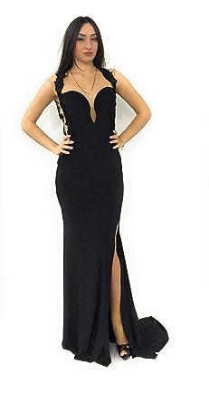 quality design b9412 25107 Invito ,Abito Lungo Donna,Nero: Amazon.it: Abbigliamento