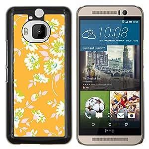Stuss Case / Funda Carcasa protectora - Papel pintado floral verde deja - HTC One M9+ M9 Plus