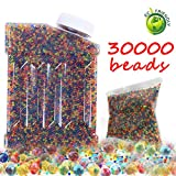 Water Beads Rainbow Mix Water Growing Balls Non Toxic for Children 30,000 Beads Orbeez Spa Refill, Sensory Toys and Décor (Mix Color)