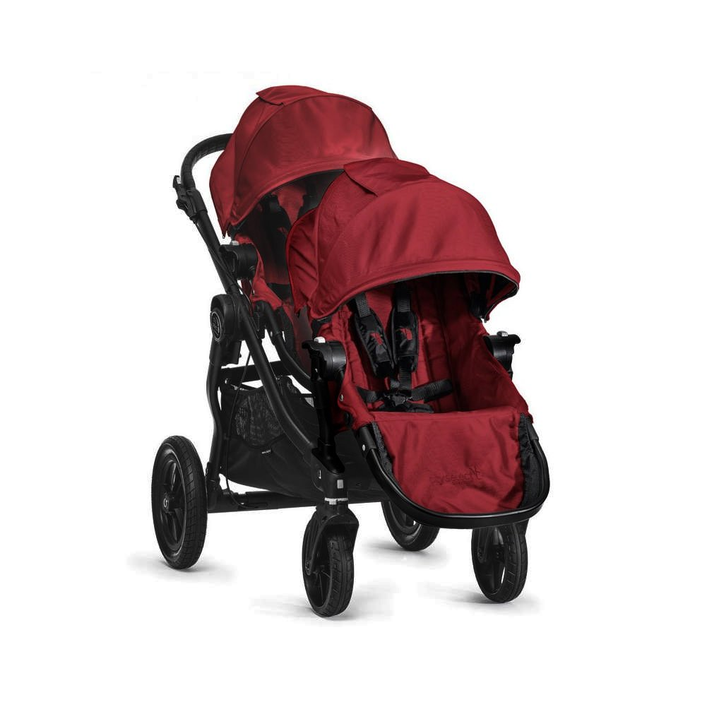 $799 Baby Jogger City Select Stroller and Second Seat Combo – Garnet