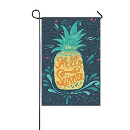 Happy More Custom Hello Summer with a Pineapple Decor Double Garden Flag  12x18 inch - Amazon.com : Happy More Custom Hello Summer With A Pineapple Decor