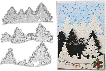 Christmas Tree /& Snowman in a jar cardstock greeting card scrapbook die cuts
