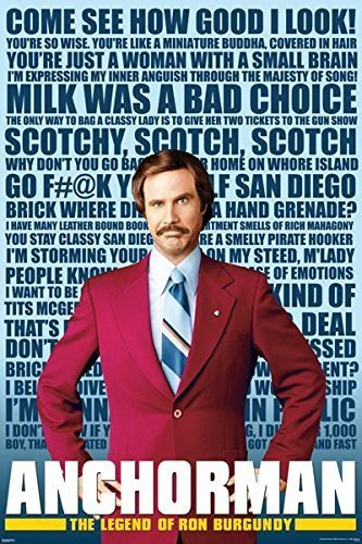 Anchorman - Quotes Movie Poster by Imaginus Posters