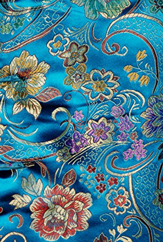 7Fairy Women's Vtg Turquoise Ten Buttons Long Chinese Dress Cheongsam Size 4 US by 7Fairy (Image #1)