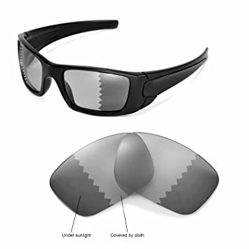 03c6a7fab858a Walleva Replacement Lenses for Oakley Fuel Cell Sunglasses -Multiple  Options (Transition photochromic - Polarized)