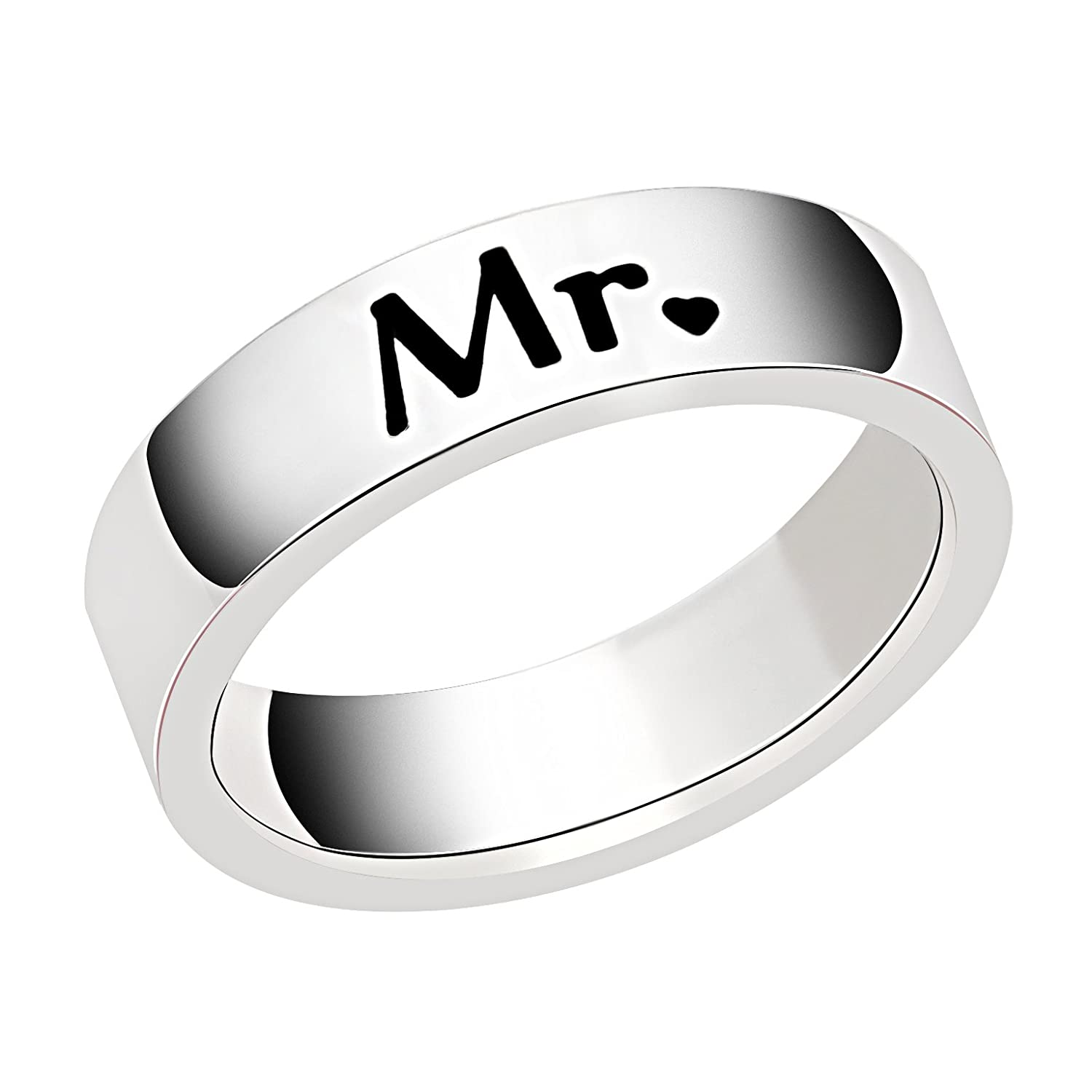 Couples Rings Wedding Band Engagement Valentine Anniversary Gift
