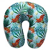 Wodehous Adonis Comfort Awesome Tropical Hawaii Pattern Memory Foam Neck Pillows Neck-Supportive Travel Pillow