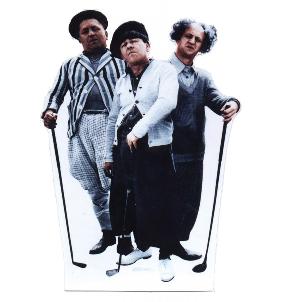 The Three Stooges ''Golf'' - Advanced Graphics Life Size Cardboard Standup by Advanced Graphics
