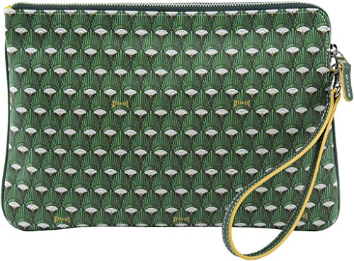 Duvetbag Women's Mini Peacock Clutch Bag, Style D16PB004S, Green by Softbag