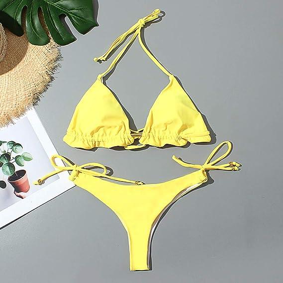 Tallas Bikini Halter Color Sólido Conjunto de Bañador Traje de Baño Push up Sujetador con Relleno Una Pieza Brasileños Elástica Tankini Traje de baño Mujer Maternidad Premamá para Mujer Deportes: Amazon.es: Ropa