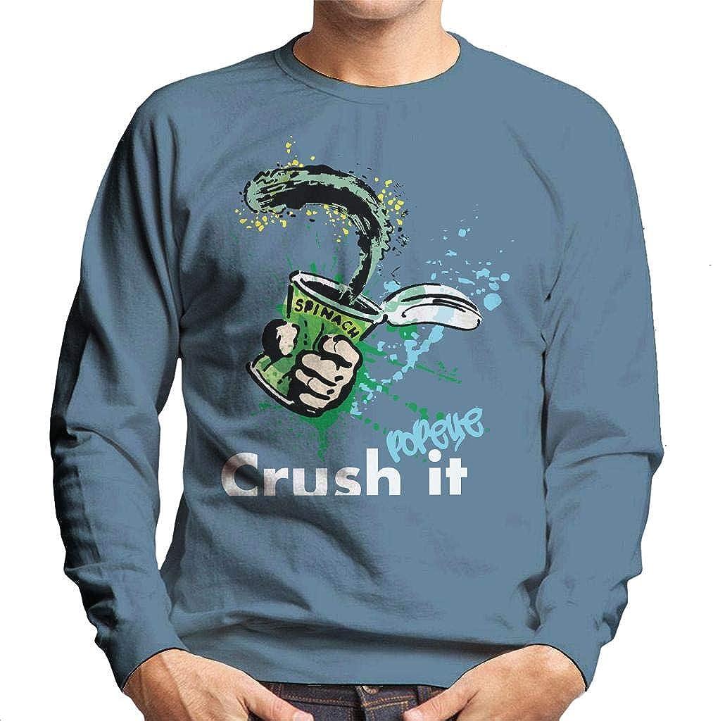 Popeye Spinach Crush It Mens Sweatshirt