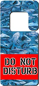 Mr kennys& Lucky 7 Do Not Disturb ,Shark Feeding Frenzy Great White Diving Pattern。Door Knob Hanger Warning Room Sign Family, Hotel, Office, Clinic, Treatment