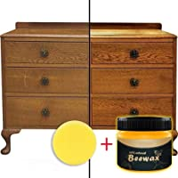 Wood Seasoning Beewax - Traditional Beeswax Polish for Wood & Furniture, All-Purpose Beewax for Wood Cleaner and Polish Wipes - Non Toxic for Furniture to Beautify & Protect, No Build-Up