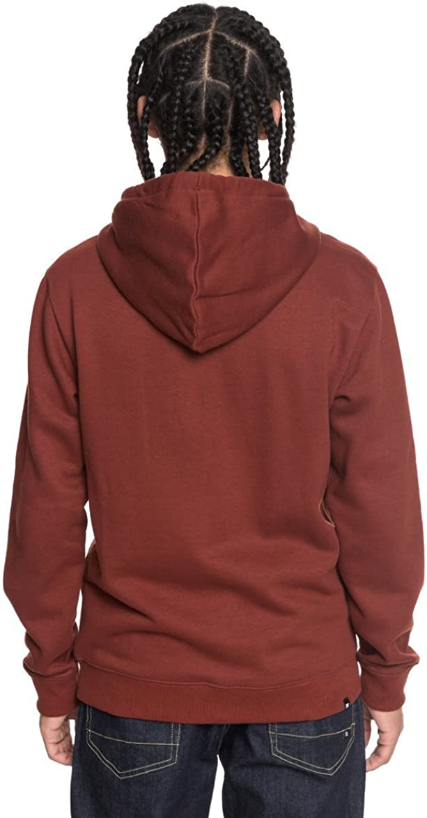 DC Clothing Men's Star ZH OTLR Hooded Long Sleeve Hoodie Fired Brick/ Old Gold