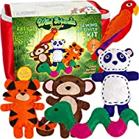 Four Seasons Crafting Kids Sewing Kit and Animal Crafts - Fun DIY Kid Craft and Sew Kits for Girls and Boys