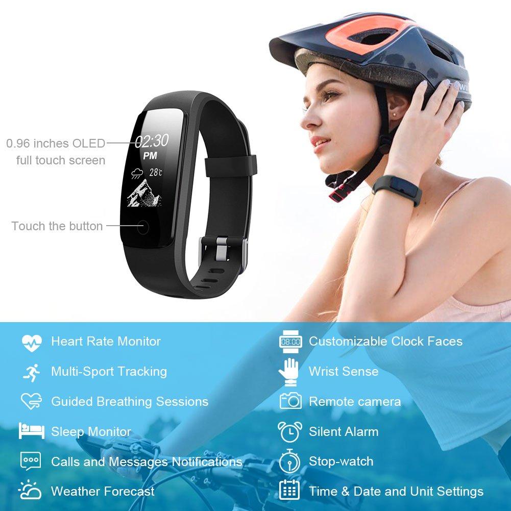 Heart Rate Fitness Tracker Watch, Lintelek Updated Activity Tracker ...