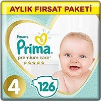 Prima Bebek Bezi Premium Care Maxi Aylık Fırsat Paketi, 4 Beden, 126 Adet
