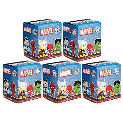 Funko Mystery Minis Vinyl Bobble Figure - Marvel Universe - Blind Packs (5 Pack Lot)