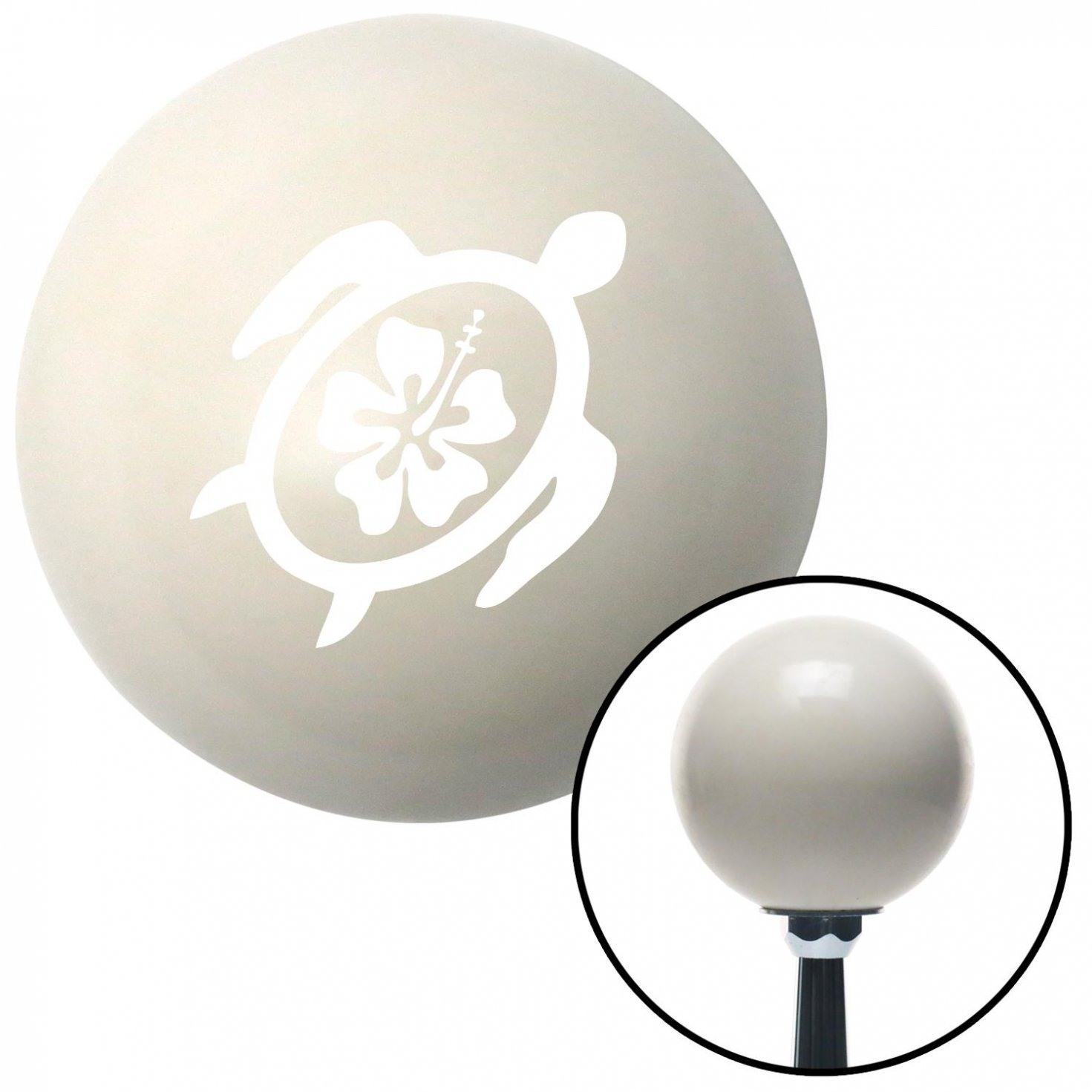 White Turtle w//Flower American Shifter 35285 Ivory Shift Knob with 16mm x 1.5 Insert