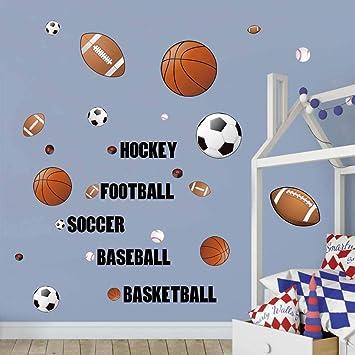 Amazon.com: Adhesivos de pared deportivos para baloncesto ...