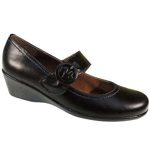 y 0912 Amazon Zapatos Modelo Piel Cuña es complementos Merceditas para y  Mujer 5S6wYOcqcg ad9ffadd52fa9