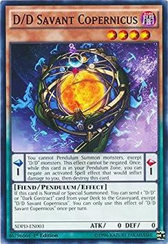 SDPD-EN003 1st Ed D//D Savant Copernicus Common Card Yu-Gi-Oh! Single Card YuGiOh