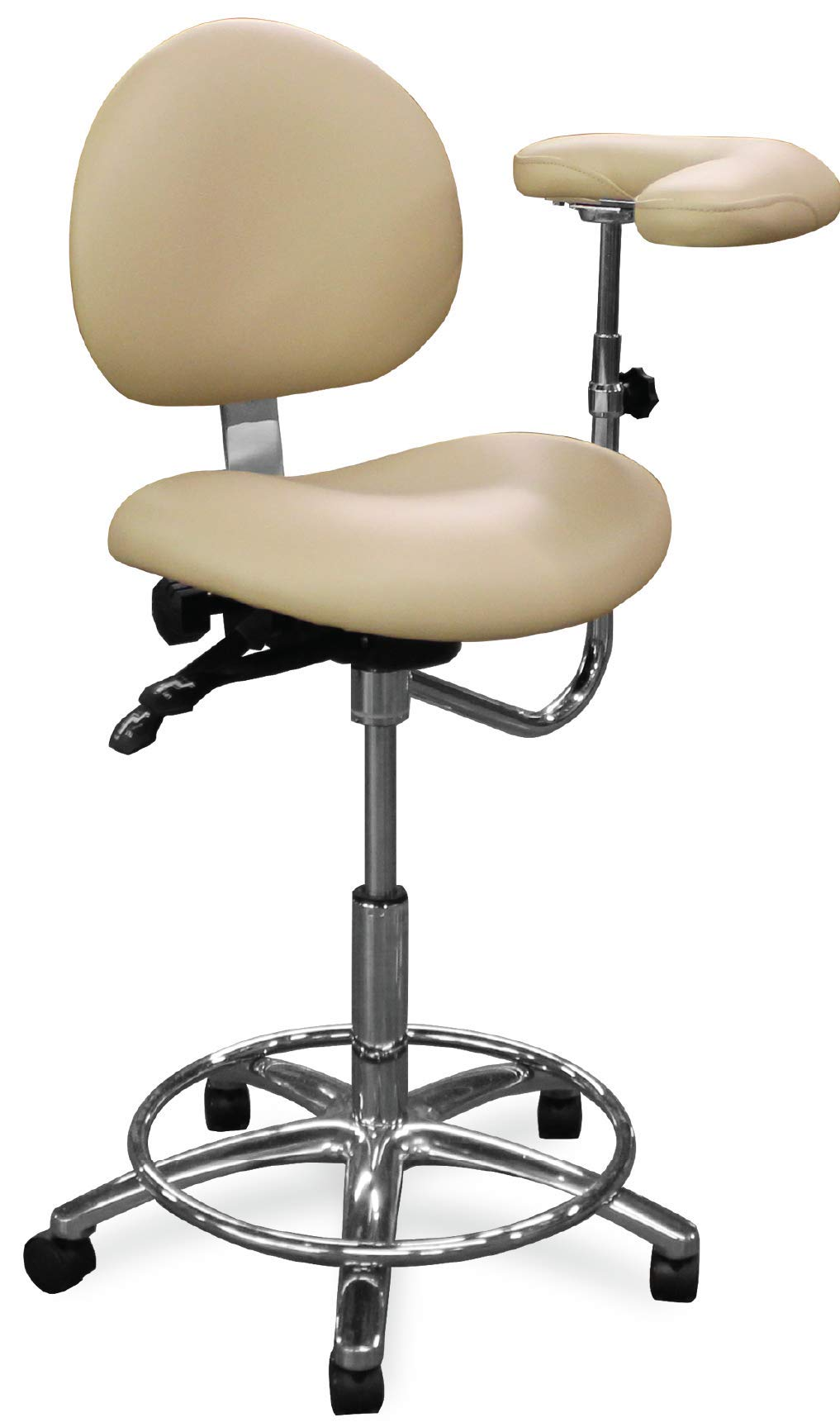 Dentists Unite 311-00 Ergonomic Dental Assistant Stool with Body Arm