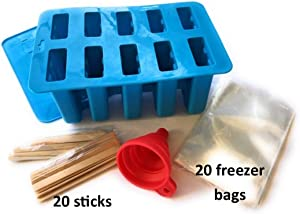 Homemade Popsicle Ice Cream Maker Mold Set BPA Free by Grammello Products