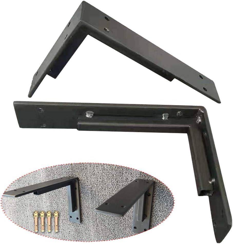 Soporte de /ángulo de Refuerzo de Esquina de Metal Blanco//Negro OWUV Soportes de Estantes Brace Vintage aleaci/ón Aluminio Soporte Triangular montado en la Pared para estanter/ía un Juego de 2