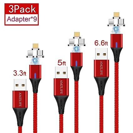 Amazon.com: AMZLIFE 3 en 1 cable de carga y sincronización ...