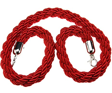 Micro Trader 1.5/m Twisted Rosso//Blu//Nero Queue Barrier Rope divisore Crowd Control Stanchion