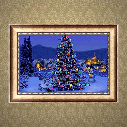 Arich Christmas Tree DIY 5D Diamond Painting Cross Stitch Resin Embroidery Craft Home Decor (Stuck Tree Christmas In Cat)