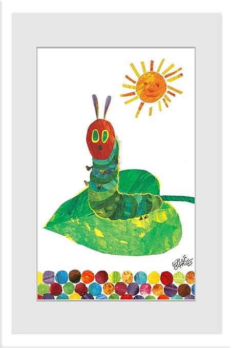 Eric Carle Sunning Caterpillar\' con marco pintura impresión, 16\