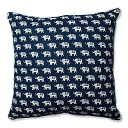Pillow Perfect Ellie Indigo 25-Inch Floor Pillow