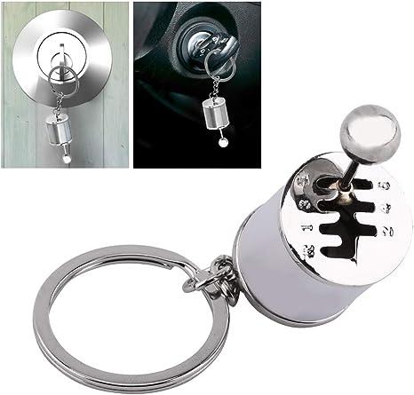 Heepdd Auto Shifter Schlüsselbund Kreative Auto Gear Shifter Modell Keychain Multicolor Auto Shift Shaped Metal Alloy Schlüsselanhänger 4 05 X 1 61 X 0 8 Zoll Silber Küche Haushalt