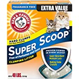 Arm & Hammer Super Scoop Litter, Fragrance Free, 40 Lbs (Packaging May Vary)