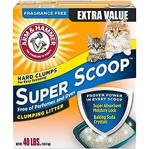 Arm & Hammer Super Scoop Litter, Unscented, 40 Lbs