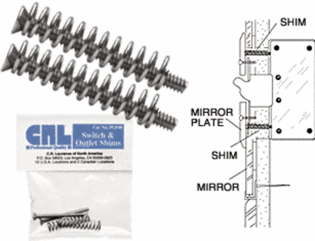C.R. LAURENCE PGP48 CRL Switch and Outlet Shims - Package