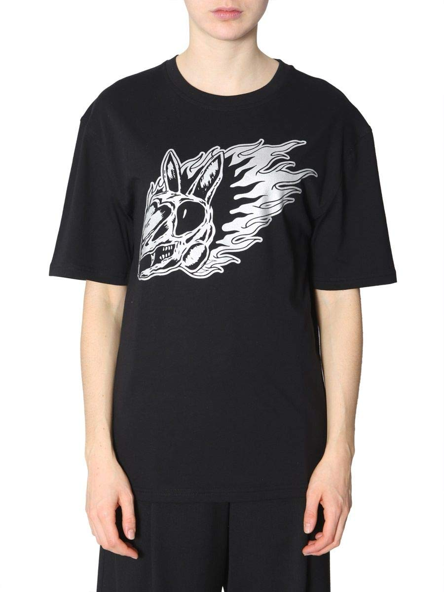 Mcq By Alexander Mcqueen Women's 494256RMJ891000 Black Cotton TShirt