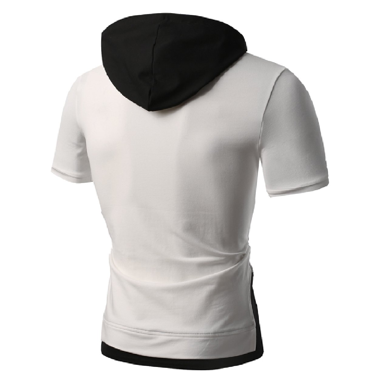 Whitive Men Short-Sleeve Athletic Fake Two Pieces Back Cotton Tees Top