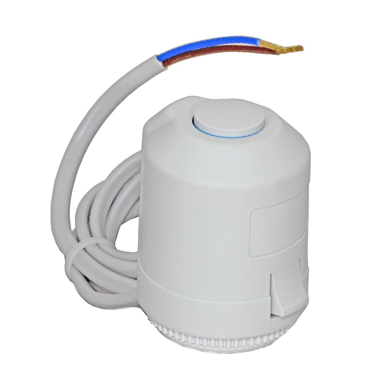 Selfio Servomoteur VM –  230 V –  avec adaptateur VA 80 compatible avec la Selfio | Heimeier | Kermi | Roth | Herb | Therm ovale, etc.