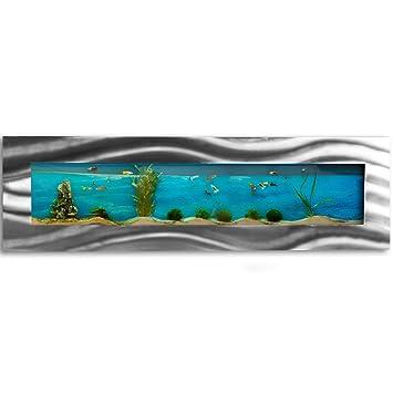 Pared Acuario 1525 x 430 x 110 mm, completo XXL Juego de accesorios Nano Acuario Norma IPX8 lámpara etc.: Amazon.es: Productos para mascotas